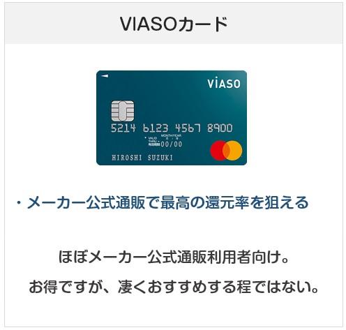 おすすめできないクレジットカード:VIASOカード