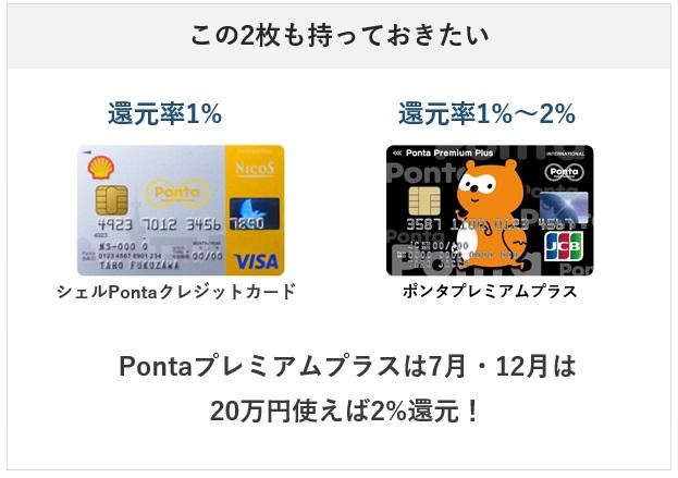 Pontaポイントを貯めるクレジットカードのサブ候補2枚