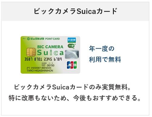 ビックカメラSuicaカードは唯一年会費実質無料のビューカードの種類