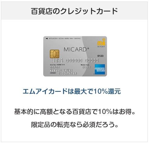 百貨店のクレジットカードは10%還元になる