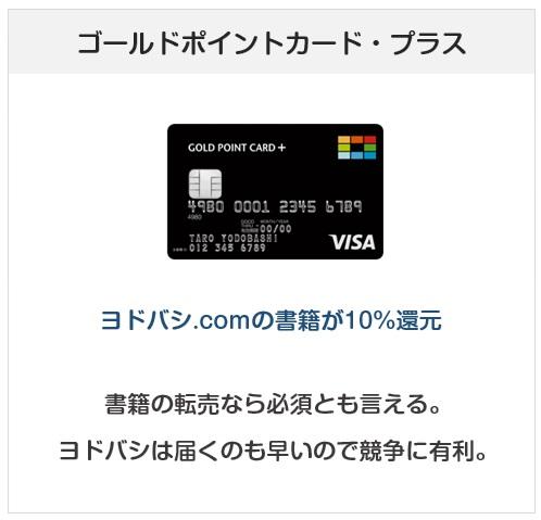 ゴールドポイントカード・プラスはヨドバシ.comでの書籍が10%還元になるクレジットカード