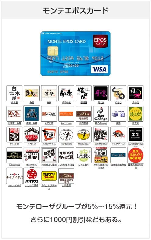 モンテエポスカードは幹事なら持っておきたいクレジットカード