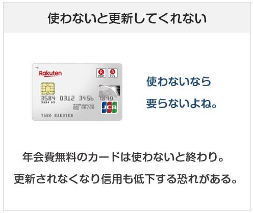 クレジットカードの持ちすぎは利用しないカードが出て更新してくれなくなる可能性がある