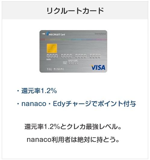 おすすめクレジットカード:リクルートカード