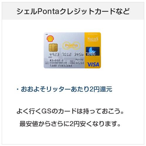 おすすめクレジットカード:シェルPontaクレジットカード