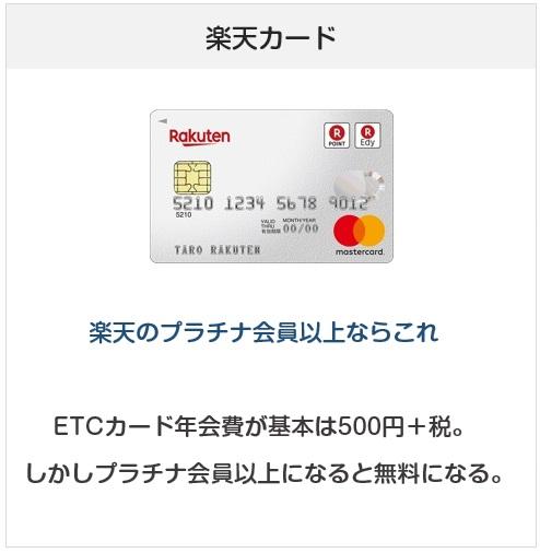 ETCカード目的で作るのにおすすめクレジットカード:楽天カード