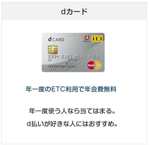 ETCカード目的で作るのにおすすめクレジットカード:dカード