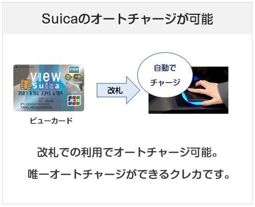 ビューカードはSuicaのオートチャージができるクレジットカード